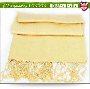 100% Viscose Plain Pashmina Stole Scarf Wrap-3 colours(C)