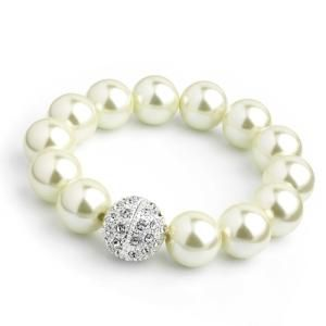 12mm Faux Pearl Trendy Fashion   Bracelet,Party,Casual etc