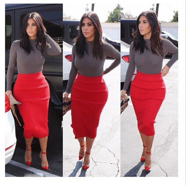 Celeb Kardashian Style 2 Piece Bandage Bodycon Dress
