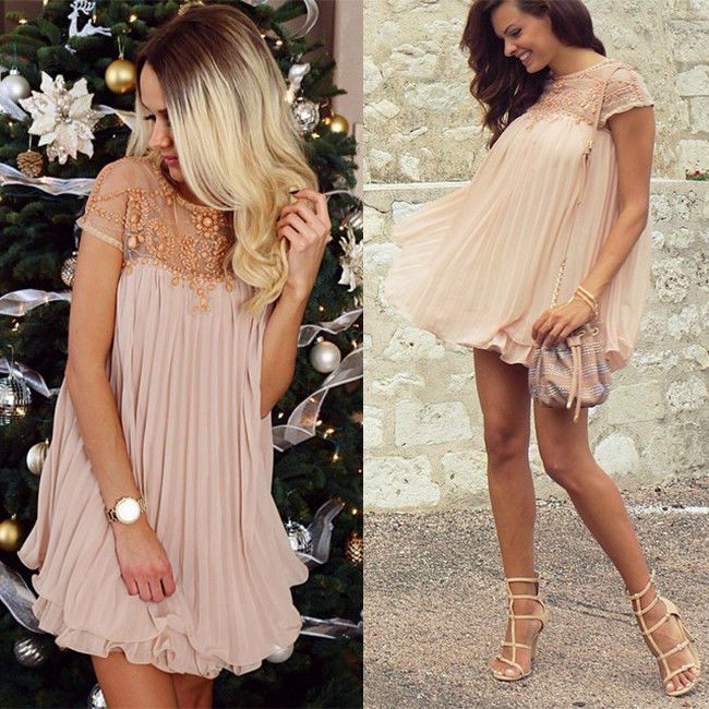 Celeb Style Cap Mesh Sleeve  Bohemian Beaded Apricot Black White Party  Dress