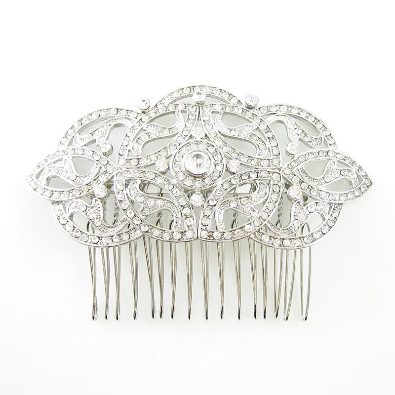 Celtic Inspired Austrian Crystal Bridal Prom Haircomb