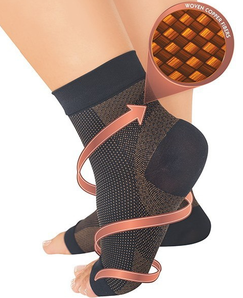 Medichi Copper Infused Anti Fatigue Compression Foot Sleeve Support