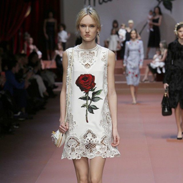 Red Rose Fashion CATWALK RUNWAY STYLE Dress
