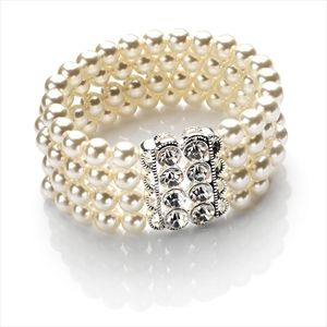 Trendy Fashion 4 Row Crystal bracelet,Party,Casual etc