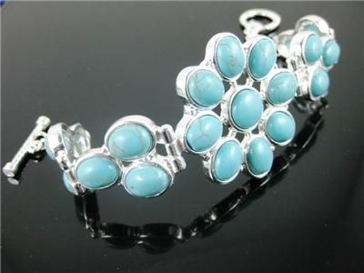 Turquoise Bead Fashion  Bracelet,Party,Casual (19598 & 19630)